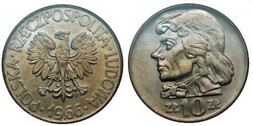 10 Zloty Repubblica Popolare di Polonia (1952-1990)