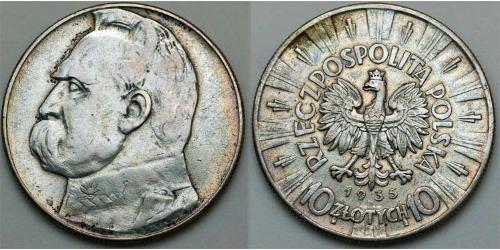 10 Zloty Zweite Polnische Republik (1918 - 1939)