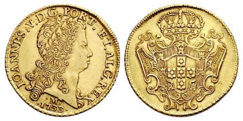 12800 Reis Brazil Gold John V of Portugal (1689-1750)