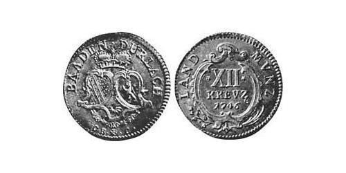 12 Kreuzer Margrave of Baden-Durlach (1535 - 1771) Silver