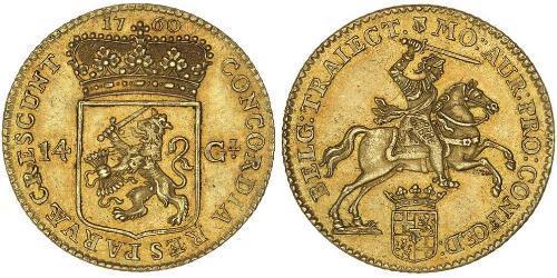 14 Gulden Provinces-Unies (1581 - 1795) Or