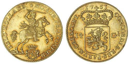 14 Gulden Repubblica delle Sette Province Unite (1581 - 1795) Oro