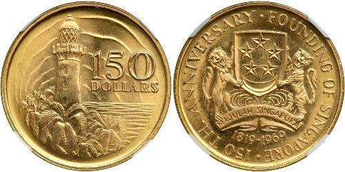 150 Dollaro Singapore Oro