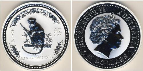 15 Доллар Австралия (1939 - ) Серебро