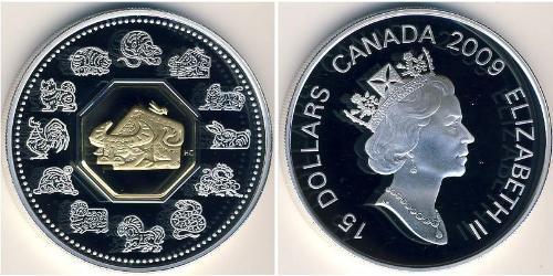 15 Доллар Канада Серебро