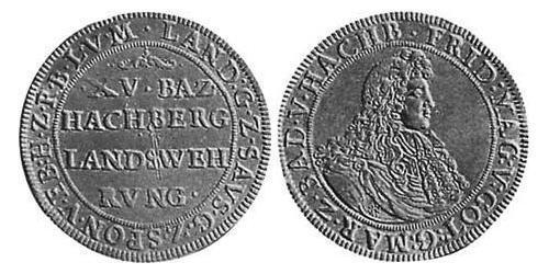 15 Batzen Margrave of Baden-Durlach (1535 - 1771) Silver