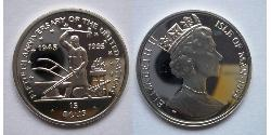 15 Ecu Isle of Man  Elizabeth II (1926-)