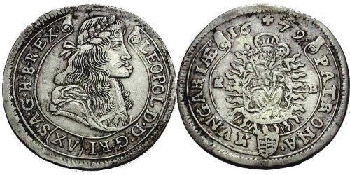 15 Kreuzer 匈牙利王国 銀 利奥波德一世 (神圣罗马帝国)(1640-1705)