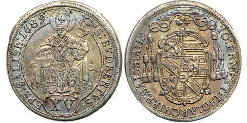 15 Kreuzer Sacro Romano Impero (962-1806) Argento