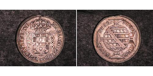 160 Reis Brésil Argent