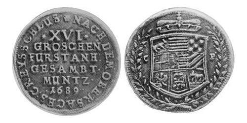 16 Groschen Principality of Anhalt (1212 - 1806) Silver