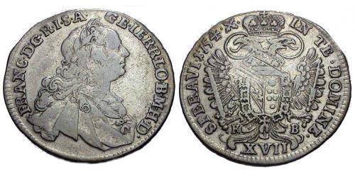 17 Kreuzer Austria  Billon