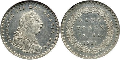 18 Penny Vereinigtes Königreich von Großbritannien und Irland (1801-1922) Silber Georg III (1738-1820)