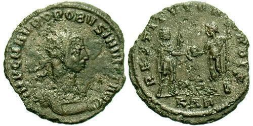 1 Антониниан Римская империя (27BC-395) Бронза Проб (232-282)
