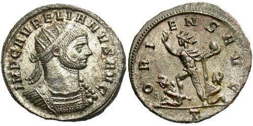 1 Антониниан Римская империя (27BC-395) Серебро/Медь Аврелиан (215-275)
