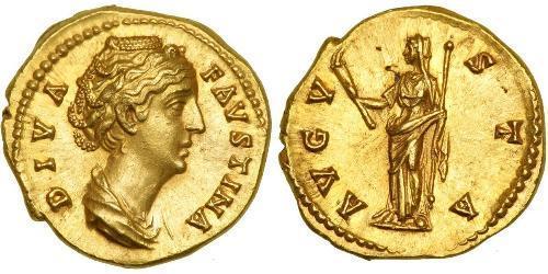 1 Ауреус Римская империя (27BC-395) Золото Фаустина II (130-175)