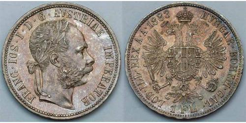 1 Гульден / 1 Флорин Австро-Венгрия (1867-1918) Серебро Франц Иосиф I (1830 - 1916)