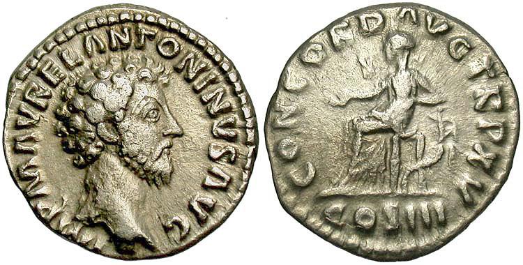 римские монеты Марка Аврелия