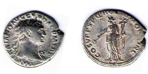 1 Денарий Римская империя (27BC-395) Серебро Траян (53-117)