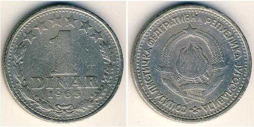 1 Динар Социалистическая Федеративная Республика Югославия (1943 -1992) Никель/Медь
