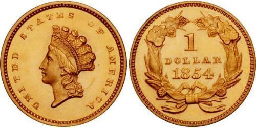 1 Доллар США (1776 - ) Золото
