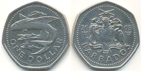 1 Доллар Барбадос Никель/Медь