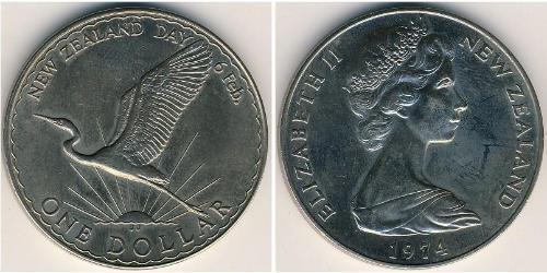 1 Доллар Новая Зеландия Никель/Медь