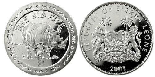 1 Доллар Сьерра-Леоне Никель/Медь