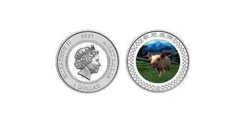 1 Доллар Австралия (1939 - ) Серебро Елизавета II (1926-)