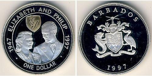 1 Доллар Барбадос Серебро