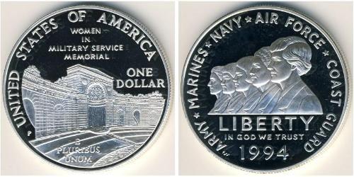 1 Доллар США (1776 - ) Серебро