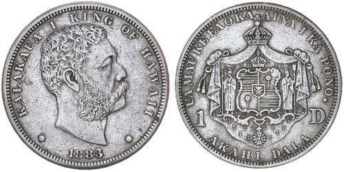1 Доллар США (1776 - ) Серебро Калакауа