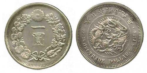 1 Доллар Япония Серебро