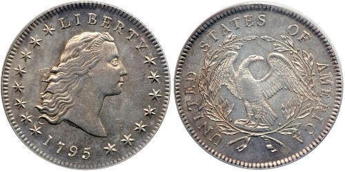 1 Доллар / 1 Дайм США (1776 - ) Серебро