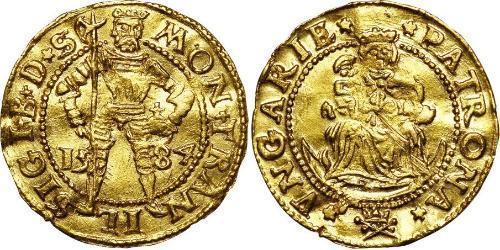 1 Дукат Княжество Трансильвания (1571-1711) Золото Sigismund Báthory,  prince of Transylvania (1572 -1613)