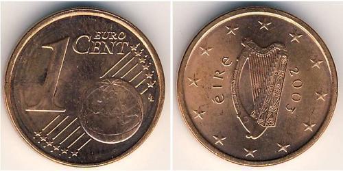 1 Евроцент Ирландия (1922 - ) Сталь/Медь