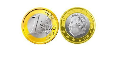 1 Евро Бельгия Биметалл Альберт II король Бельгии