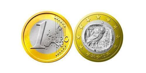 1 Евро Греческая Республика  (1974 - ) Биметалл