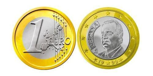1 Евро Королевство Испания (1976 - ) Биметалл