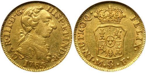 1 Ескудо Нова Іспанія (1519 - 1821) Золото Карл III король Іспанії (1716 -1788)
