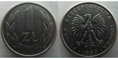 1 Злотий Польська Народна Республіка (1952-1990) Нікель/Мідь