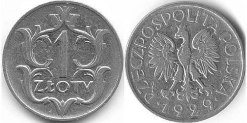 1 Злотый Польская Республика (1918 - 1939) Никель