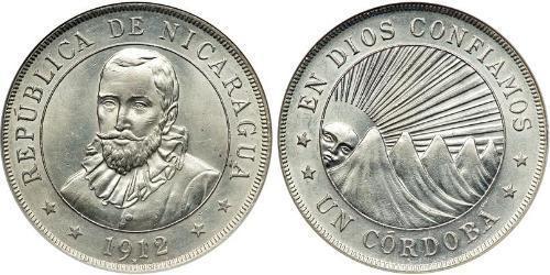 1 Кордоба Никарагуа Серебро