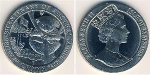1 Крона(английская) Остров Мэн Медь-Никель Елизавета II (1926-)
