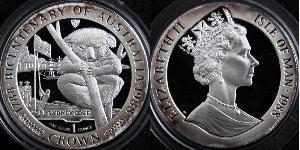 1 Крона(английская) Остров Мэн Медь/Никель Елизавета II (1926-)