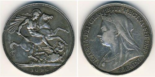 1 Крона(английская) Великобритания  Серебро