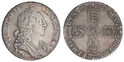 1 Крона(английская) Королевство Англия (927-1649,1660-1707) Серебро Вильгельм III (1650-1702)