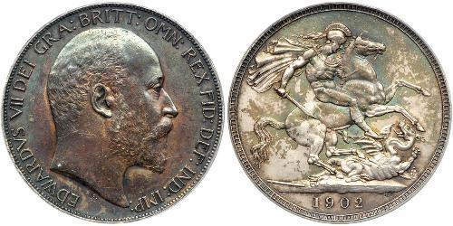 1 Крона(английская) Соединённое королевство Великобритании и Ирландии (1801-1922) Серебро Эдуард VII (1841-1910)
