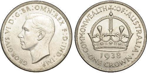 1 Крона(англійська) Австралія (1939 - ) Срібло Георг VI (1895-1952)