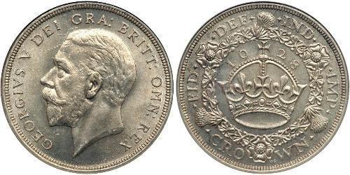1 Крона(англійська) Велика Британія (1922-) Срібло Георг V (1865-1936)